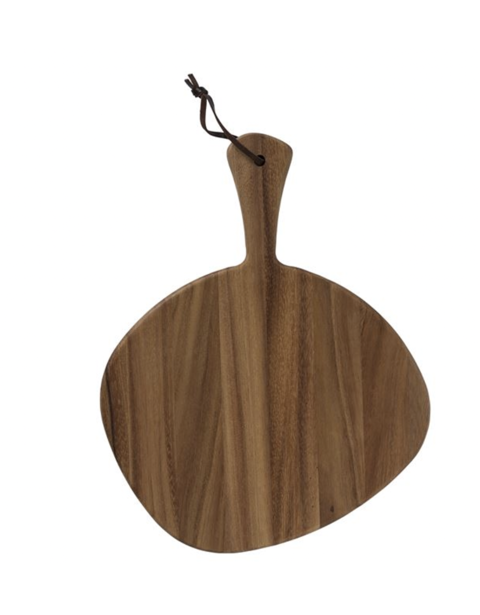 Bloomingville Acacia Wood Tray/Cutting Board with Leather Strap
