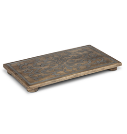 """Gerson 18"""" Wood Trivet with Metal Inlay"""