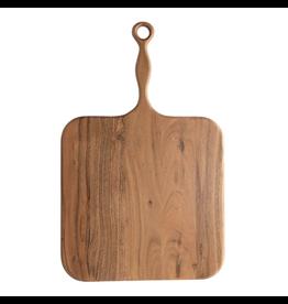 "Creative Co-Op Acacia Wood Cheese & Cutting Board with Handle 22"""