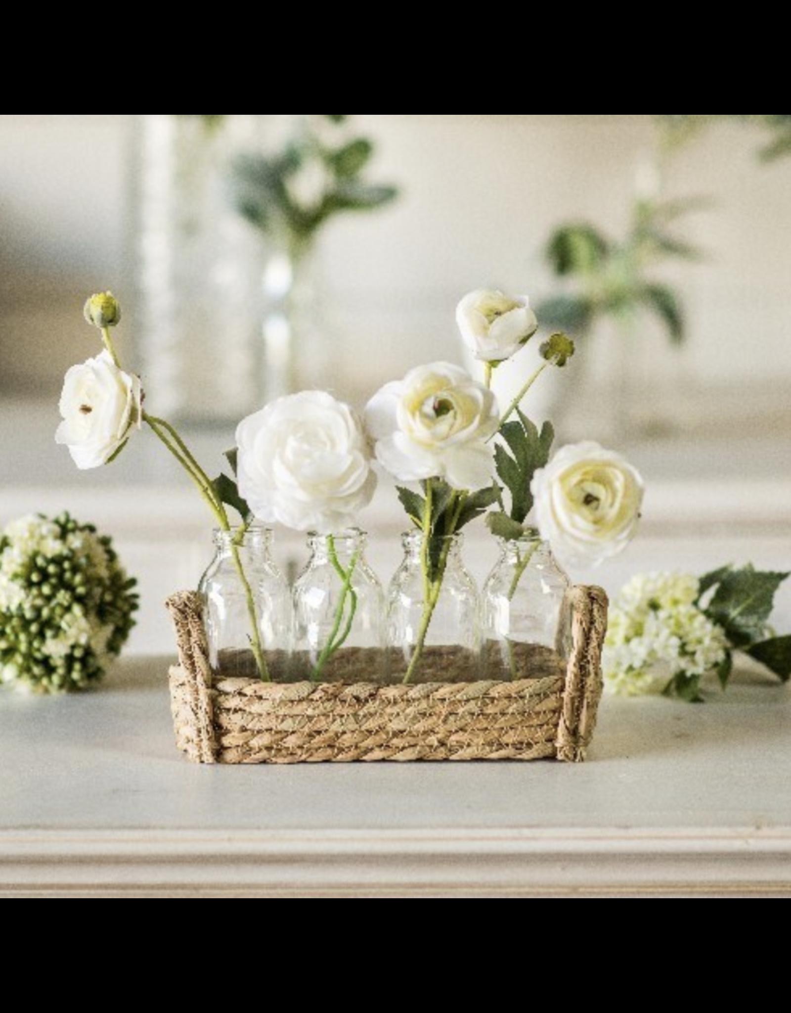 VIP Home & Garden Flax Basket with Bottles