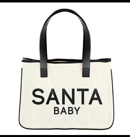 Creative Brands Santa Baby Mini Canvas Tote
