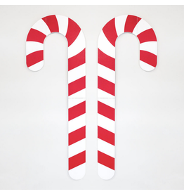 Adams & Co. Giant Wood Candy Canes, set of 2