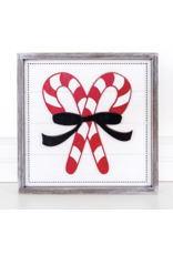 Adams & Co. Candy Cane Framed Sign