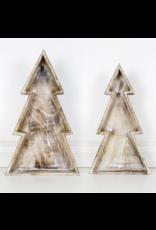 Adams & Co. Mango Wood Christmas Tree Tray Large