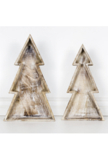 Adams & Co. Mango Wood Christmas Tree Tray Small