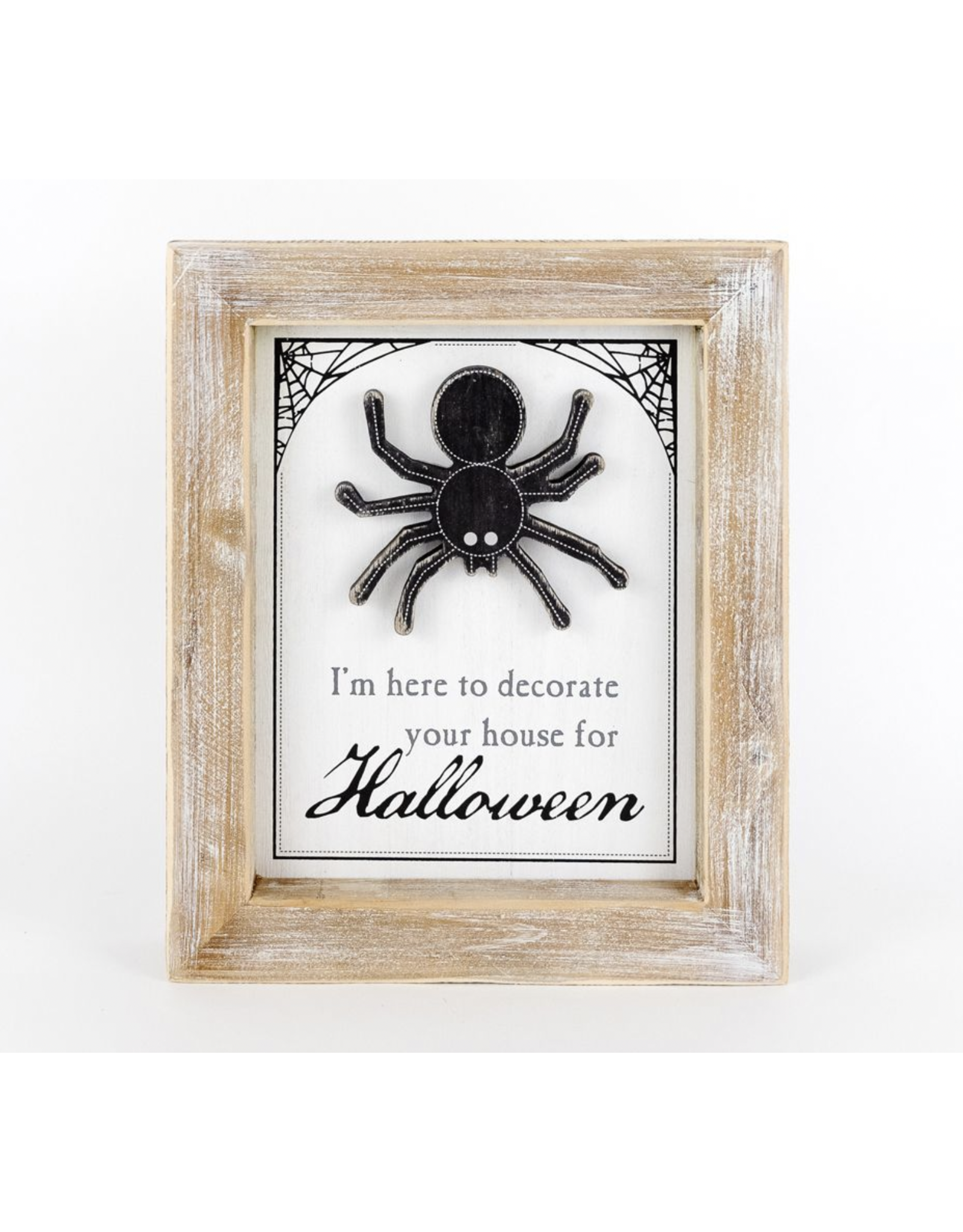 Adams & Co. Spider & Pumpkin Sign 10 x 12