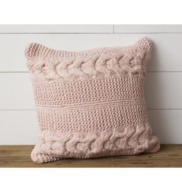 Audrey's Knitted Blush Pillow