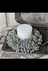 "Lancaster & Vintage Frost Gleam Hops Candle Ring 4"""