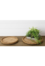 Audrey's Natural Round Bead Tray, Large
