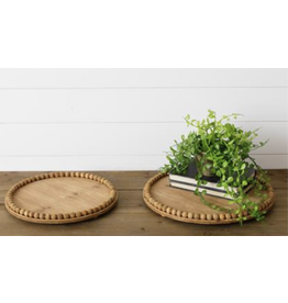 Audrey's Natural Round Bead Tray, Small