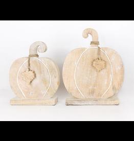 Adams & Co. Mango Wood Pumpkin, Large