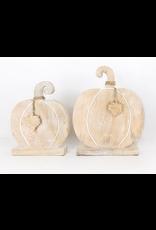 Adams & Co. Mango Wood Pumpkin, Medium