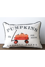 Little Birdie Pumpkin Wagon 25 Cents Pillow