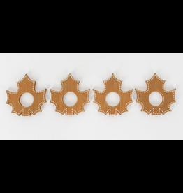 Adams & Co. Leaf Napkin Ring, set of 4