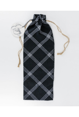 Adams & Co. Black and White Wine Bag/Enjoy
