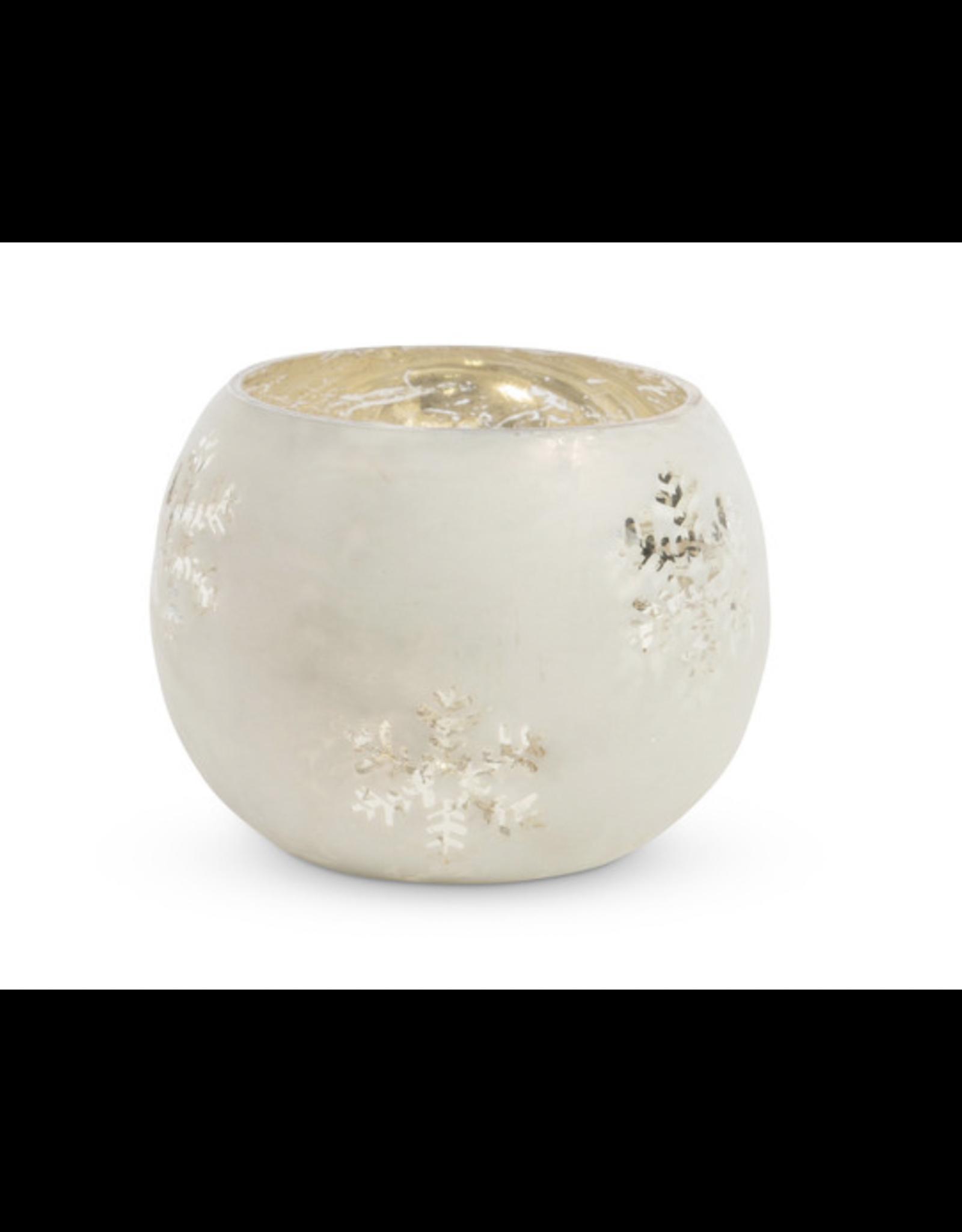 Park Hill Galss Snowflake Pattern tea light holder