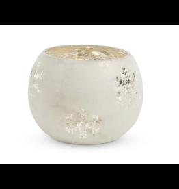 Park Hill Glass Snowflake Pattern tea light holder