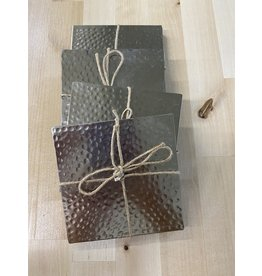 Thirstystone Hammered Silver Coasters, set of 4