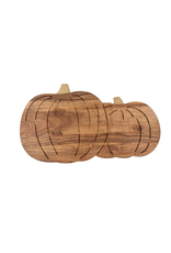 Thirstystone Duo Pumpkin Shaped Wood Serving Board