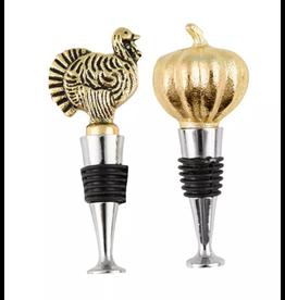 Thirstystone Pumpkin & Turkey Bottle Stoppers, set of 2