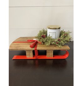 Thirstystone Sled Serving Board with Red Handle and Cheese Spreader