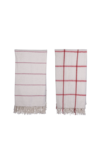 Creative Co-Op Brushed Cotton Throw with Fringe