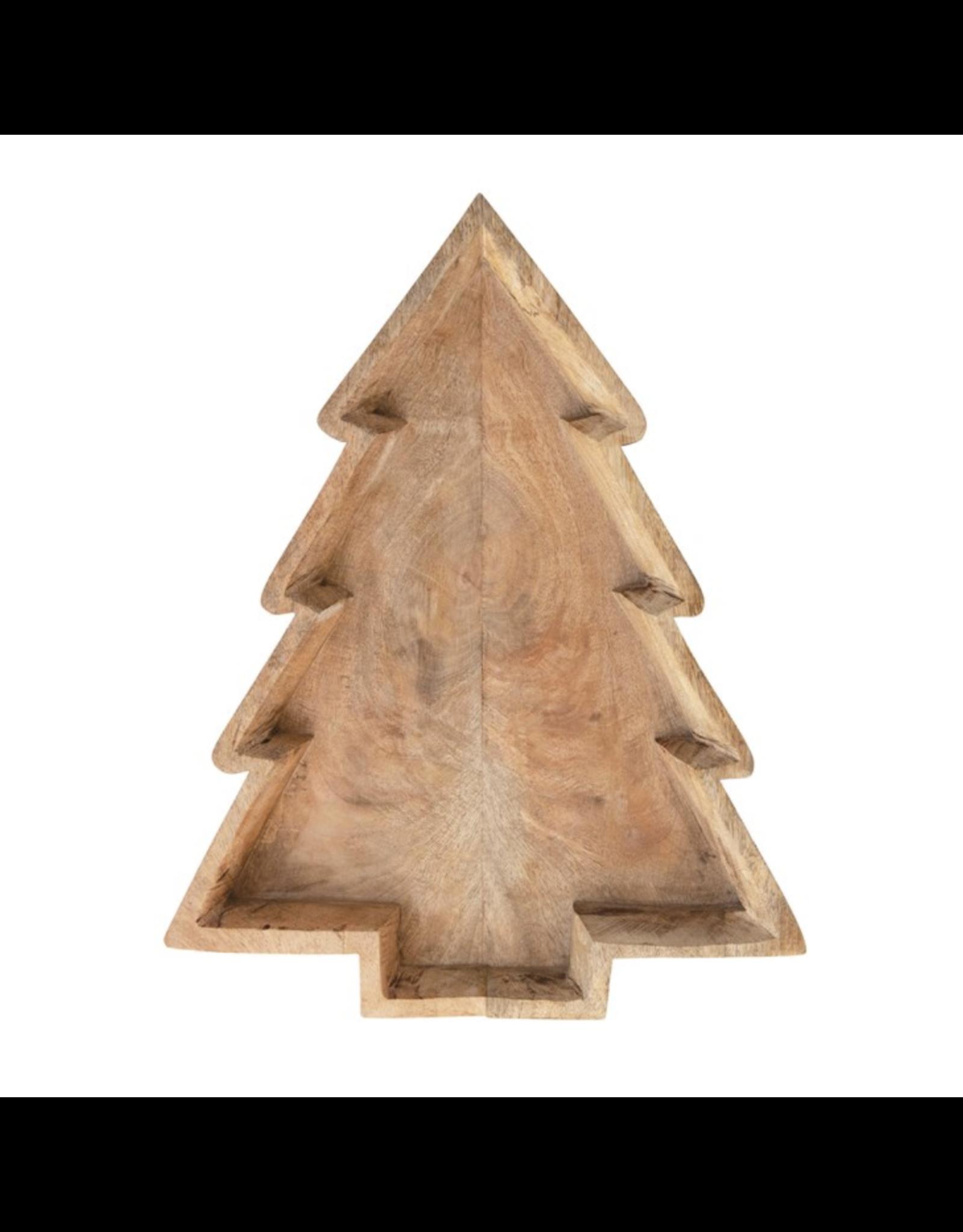 Creative Co-Op Christmas Tree Shaped Tray
