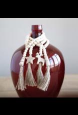 Creative Brands Seasonal Wood Paulownia Bead Garland