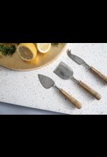 BIDK Mango Wood Cheese Knives, set of 3