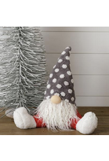 Audrey's Sitting Gnome - Red Pants, Grey Dot Hat