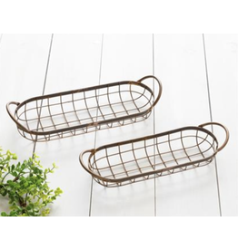 Audrey's Oblong Wire Copper Tray, Large