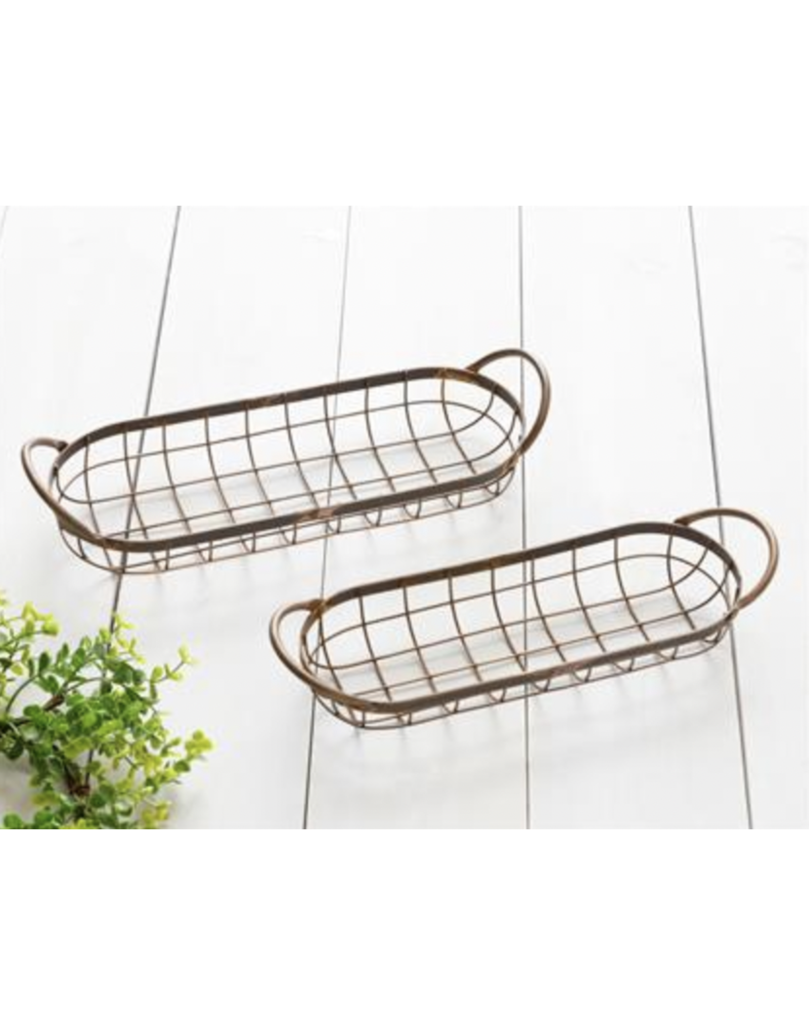 Audrey's Oblong Wire Copper Tray, Small