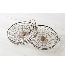 Audrey's Round Wire Copper Tray, Large