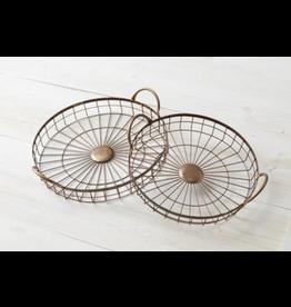 Audrey's Round Wire Copper Tray, Small