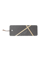 Bloomingville Black Marble Cheese/Cutting Board w/ Brass Inlay