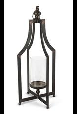 """Gerson 22.5"""" Black Metal Lantern"""