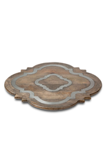 """Gerson 24"""" Wood Ogee Lazy Susan"""