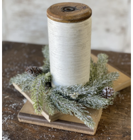 Lancaster & Vintage Frosted Spruce Candle Ring
