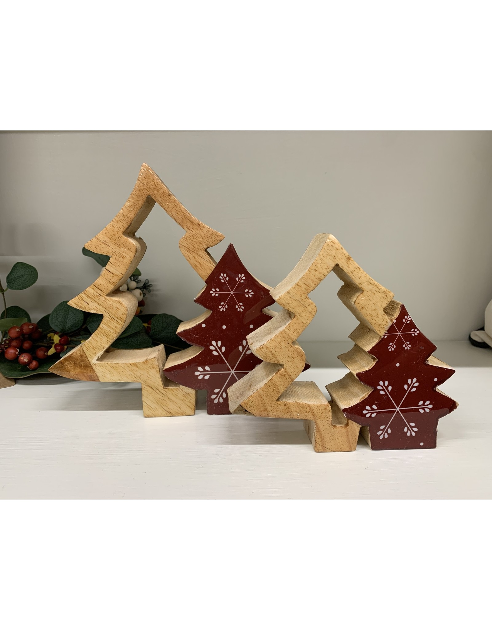 Double Tree Cut-Out Set of 2