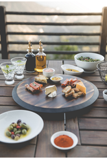 Picnic Time Fire Acacia Wood Lazy Susan (with personalization