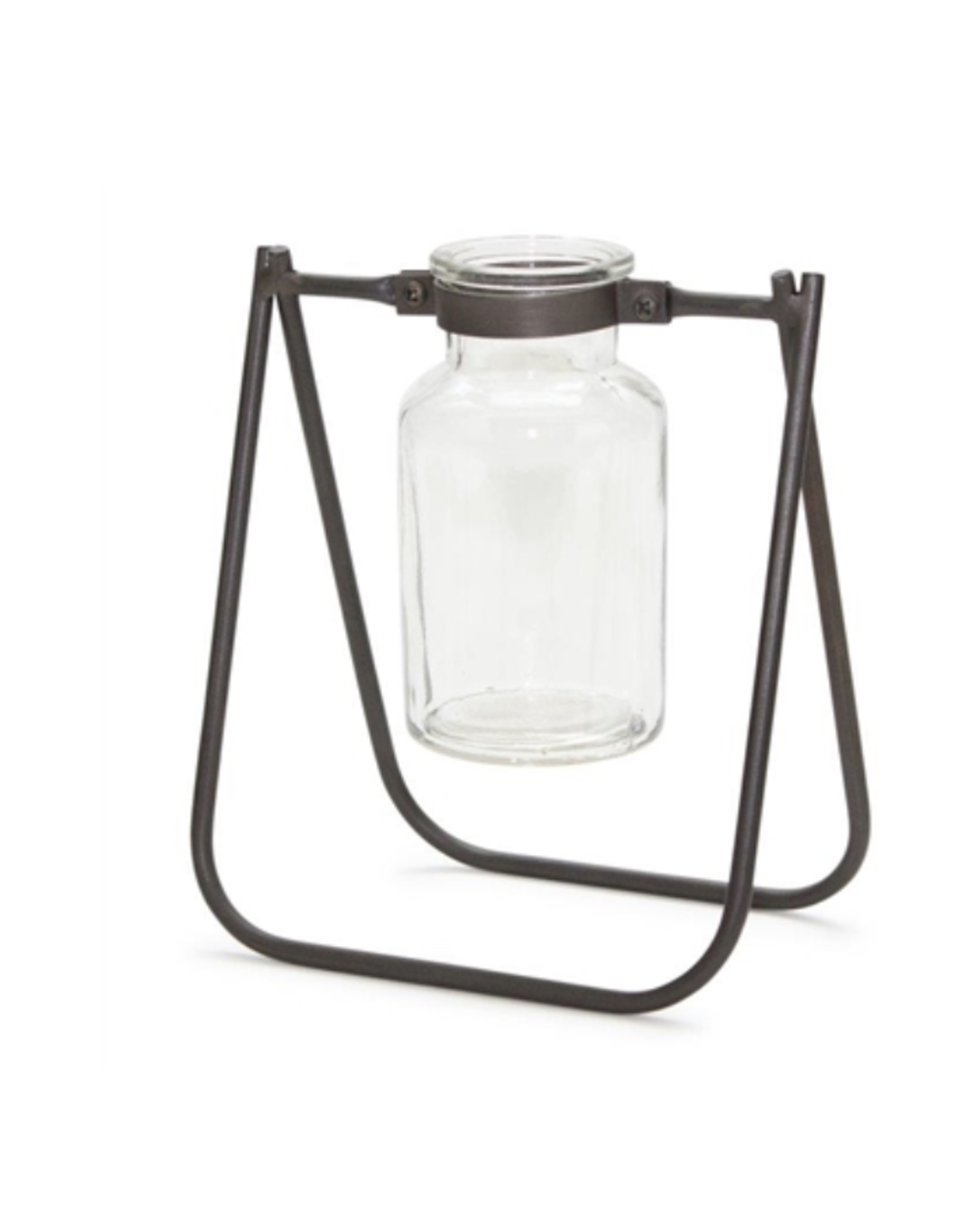 Melrose Iron & Glas Jar with Stand
