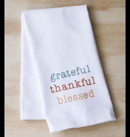Little Birdie Grateful, Thankful & Blessed Tea Towel