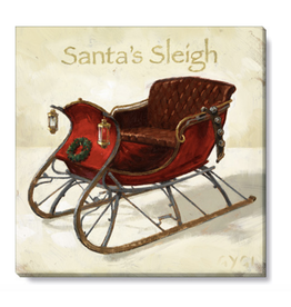 Sullivans Santa's Sleigh Wall Art 5 x 5