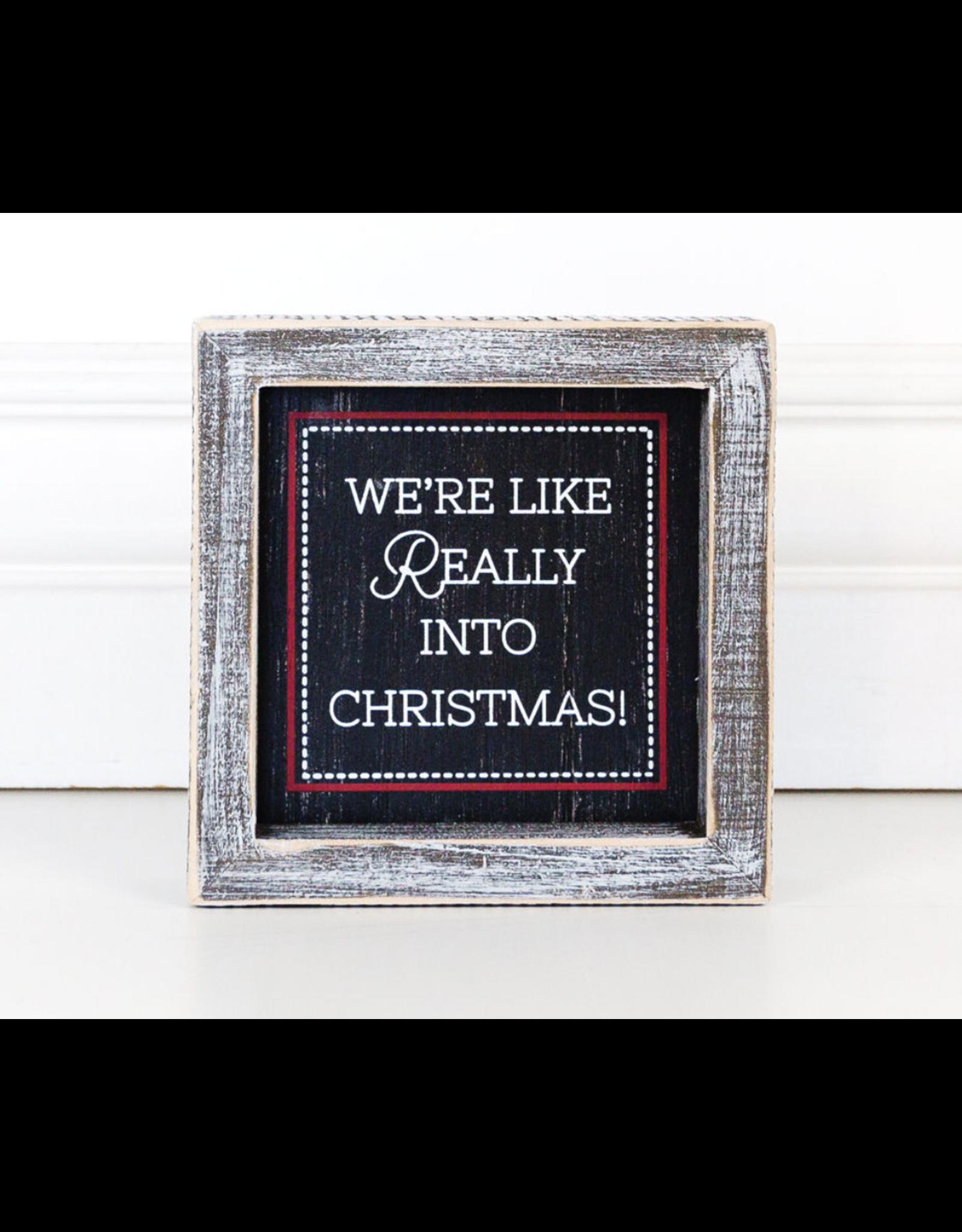 "Adams & Co. Really Into Christmas Sign 5"" x 5"""