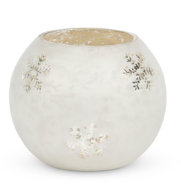 Park Hill Glass Snowflake Pattern Candle Holder