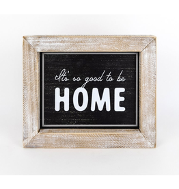 Adams & Co. Home Sweet Home/For The Holidays Reversible Sign 12 x 10