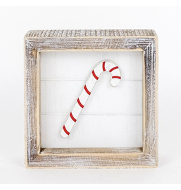 Adams & Co. Candy Cane Shiplap Sign