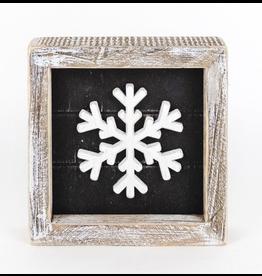 Adams & Co. Snowflake Shiplap Sign