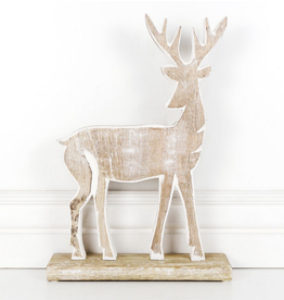 """Adams & Co. Mango Wood Deer 9"""""""