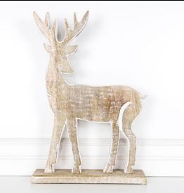 """Adams & Co. Mango Wood Deer 12"""""""